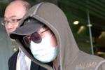 三月十四日早上,香港艺人淫照案的被告史可隽离开东区法院。