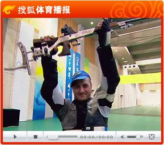 视频:艾瓦江1环优势稳定胜局 男子50米卧射