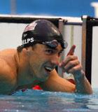 美国男子游泳队在4x100米自由泳接力比赛勇夺金牌
