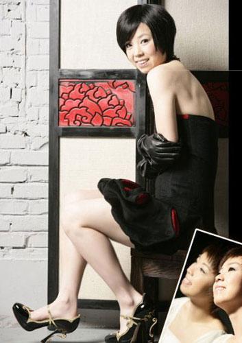 乒坛一姐张怡宁的时尚大片 来源:搜狐娱乐社区
