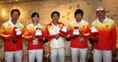 中国女曲将士做客搜狐