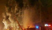 新疆乌鲁木齐12层商厦失火