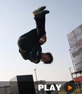 中国首届跑酷国际公开赛 超越自我展现跑酷魅力